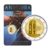 Andorra 2018    2 Euro Commemo  25 Jaar Grondwet (constitution) Van Andorra     UNC Uit De Coincard  !! - Andorra