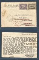 DUTCH INDIES. 1947 (11 Aug) Batavia - Macau, Portuguese China (27 August) Forwarded To Brazil, Sao Paulo. Private Chines - Nederlands-Indië