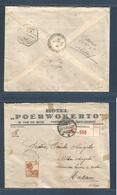 DUTCH INDIES. 1935 (22 June) Poerwokerto, Bajoemas - Macau, Asia (5 July) Via Hong Kong. Registered Single 35c Fkd Env. - Nederlands-Indië