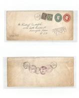 CANADA. 1933 (14 Jan) Windsor - USA, Indiana (16-17 Jan) Registered Doble Print + Adtls Multifkd Stationary Envelope. Fi - Non Classés