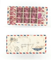 INDOCHINA. 1962 (3 Dec) Vietnam. Saigon - USA, SF, Palos Verdes Peninsula, CA (7 Dec) Registered Reverse Airmail Multifk - Postzegels