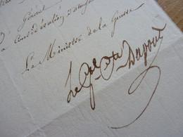 General DUPONT De L'ETANG (1814) Abdication NAPOLEON BONAPARTE. Autographe - Autographs