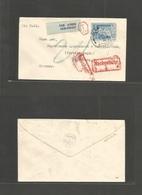 EIRE. 1951 (12 Apr) Glar Chloinane Mhuihis - Germany, Nuremberg Air Fkd Envelope + Red Tax Cachet + Arrival Red Cash Cac - Oblitérés