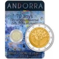 Andorra 2018    2 Euro Commemo  70 Jaar Mensenrechten - Droits De L'homme      UNC Uit De Coincard  !! - Andorra