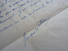 Monique WATTEAU (née 1919) Peintre & Ecrivaine Belge SF Sci Fi [ HEUVELMANS ] Alika Lindberg AUTOGRAPHE - Autographs