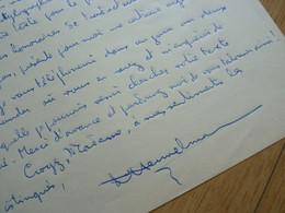Bernard HEUVELMANS (1916-2001) CRIPTO ZOOLOGUE Yeti Loch Ness. Ami Hergé. AUTOGRAPHE - Autografi