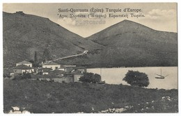 ALBANIA, SANTI QUARANTA, AGIOI SARANTA, EPIRUS, 1900s-1910s Vintage View Postcard -  CPA - Albanien