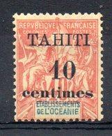 TAHITI - YT N° 32 - Neuf * - MH - Cote: 13,00 € - Tahiti (1882-1915)