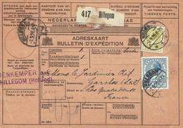 146 + 152 Pays Bas Bulletin De Colis Postal Pays Bas Du 07-09-1926  Avec  N° 146 + 152 - 1891-1948 (Wilhelmine)