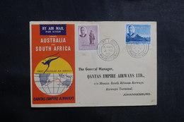 MAURICE  - Enveloppe De Port Louis Pour Johannesburg Par 1er Vol  En 1952, Affranchissement Plaisant - L 39947 - Maurice (...-1967)