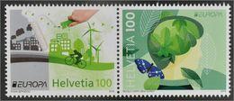 Suisse Helvetia 2379/80 Ecologie, Europa, Papillon - Europa-CEPT