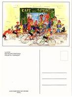 Cyclisme  - Lot De 2 Cartes Postales Représentant Des Courses De Vélos - Bicyclette - Cycling - Ciclismo