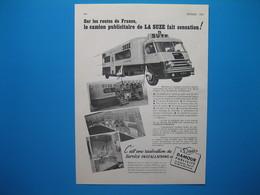 (1952) Le Camion Publicitaire De LA SUZE Sur Les Routes De France - Publicités