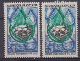 France  1969 Charte Euopeeenne De L'eau 1v (2x) ** Mnh (44294) - Europese Gedachte