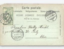 UPU 5 Rp Auf AK Gruss Aus Einsiedeln - 1882-1906 Armoiries, Helvetia Debout & UPU