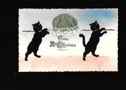 C.P.A. AVEC BONNET DE SAINTE CATHERINE... - Bordados