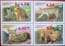 Tajikistan  2016    WWF  Reed  Cat  Red OP On 4v Of 2002  MNH - Tadjikistan