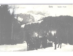 TATRY Hawrán I Muran Horse-drawn Sledge In Snow Landscape Postmark On KuK Stamp 1909 - Slovacchia