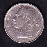 Belgie - 5 Francs / 1963 - 1951-1993: Baudouin I