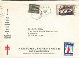 Norway 1965 Cover To Canada Oslo 18 11 1965 Christmas Seal, NS Sanatorium - Noorwegen
