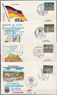Germany Set On 12 FDCs From 1964-65 - Architecture