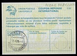 NOUVELLES HEBRIDES / NEW HEBRIDES La22 InternationalReply Coupon Réponse Antwortschein IRC IAS O PORT VILA 12.3.75 - Französische Legende