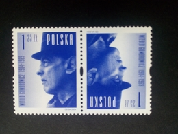 POLEN MI-NR. 4130 POSTFRISCH KEHRDRUCKPAAR WAGERECHT 100. GEBURTSTAG VON GOMBROWICZ SCHRIFTSTELLER - 1944-.... Republic