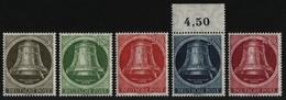 Berlin 1951 - Mi-Nr. 82-86 ** - MNH - Klöppel Rechts (III) - Ungebraucht
