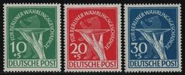 Berlin 1949 - Mi-Nr. 68-70 ** - MNH - Währungsgeschädigte (II) - Unused Stamps