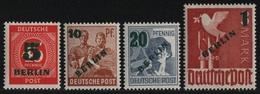 Berlin 1949 - Mi-Nr. 64-67 ** - MNH - Freimarken - Grünaufdruck (II) - Unused Stamps