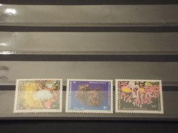 POLYNESIA - 1991 FAUNA MARINA 3  VALORI - NUOVI(++) - Polinesia Francese