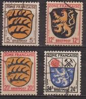 Zone D'occupation Française - ALLEMAGNE - Armoiries: Palatinat, Wurtemberg, Sarre - N° 3-6-8-9 - 1945 - Zone Française