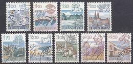HELVETIA - SUISSE - SVIZZERA - Segni Zodiacali - 8 Valori Usati: Yvert 1156/1159, 1171, 1193/1195 E 1218 - Svizzera