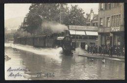 Rorschach - Hochwasser - Dampflok - Bahnhof - 1926 - SG St. Gallen