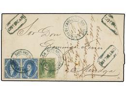 ARGENTINA. Sc.12, 13 (2). 1868. SAN LUIS A MENDOZA. Envuelta De Carta Certificada (falta Parte Del ángulo Superior Derec - Non Classés