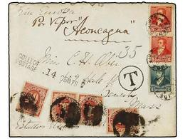 ARGENTINA. 1892. BUENOS AIRES A USA. 2 Ctvos. Verde, 5 Ctvos. Carmín (2), Tasado A La Llegada Con 14 Ctvos. Pagados Con  - Non Classés