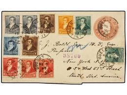 ARGENTINA. 1897. BUENOS AIRES A U.S.A. Entero Postal De 5 Ctvos. Rosa Con Franqueo Adicional De 1/2 Ctvo. (2), 1 Ctvo. ( - Non Classés