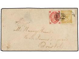 ARGENTINA. 1870. BUENOS AIRES A BRISTOL (Gran Bretaña). Sobre Circulado Con Sellos Británicos De 3 D. Rosa (margen Izqui - Non Classés