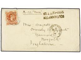 "ARGENTINA. 1874. BUENOS AIRES A INGLATERRA. 5 Cts. Rojo, Mat. BUENOS AIRES Y Marca SOUTHAMPTON/SHIP-LETTER, Manuscrito "" - Non Classés"