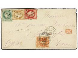 ARGENTINA. 1875. BUENOS AIRES A FRANCIA. Circulada Con Sello De 5 Cts. Rojo De Argentina Y Sellos Franceses De 5 Cts. Ve - Non Classés