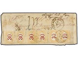 ARGENTINA. 1876. Carta Salida Del Interior De Argentina Franqueada Probablemente Con Un Sello De 5 Cts. (fechador...OYA) - Non Classés