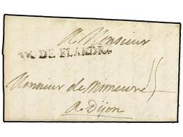 BELGICA. 1708. AU CAMP DE TOURNAY A DIJON. Carta Completa Con Texto, Marca AR. DE FLANDRE. MUY RARA. - Non Classés