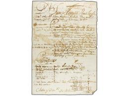 BOLIVIA. 1795 (30 Diciembre). CORREO EXTRAORDINARIO (yente Y Viniente) De LA PLATA A SANTA CRUZ Y CHILON Con Varios Paqu - Non Classés