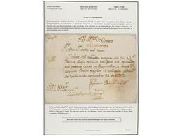 BOLIVIA. 1797 (24 Noviembre). RECIBO DE ENCOMIENDA De COCHABAMBA A CUZCO Por Valor De 1000 Pesos (el Transporte De Cauda - Non Classés