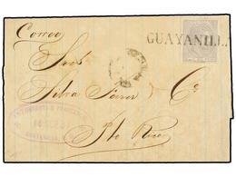 PUERTO RICO. Ed.51. 1861. GUAYANILLA A SAN JUAN. 5 Cts. Gris, Mat. Prefilatélico GUAYANILLA. MAGNÍFICO Y RARO. Cert. GRA - Sellos