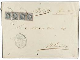 PUERTO RICO. Ant.10 (4). 1864. S. JUAN A UTUADO. Sobre Del Real Servicio Enviado Sin Sellos Y Tasado A La Llegada Con Un - Sellos