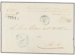 PUERTO RICO. 1871. CIALES A ARECIBO. Fechador CIALES/PUERTO RICO Y Marca Prefilatélica CIALES. MAGNÍFICA. - Sellos