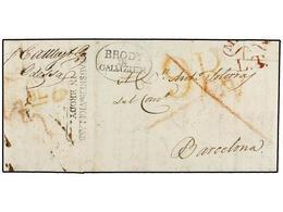 "RUSIA. 1819 (23 Febrero). ODESSA To BARCELONA (Spain). Entire Letter, Forwarded Via BRODY (Austria). Rated ""9 Reales"" On - Sellos"