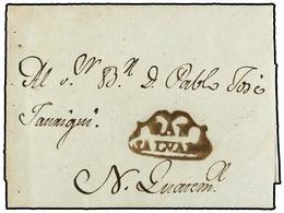 SALVADOR. 1798 (5 Diciembre). SAN SALVADOR A N. GUATEMALA. Carta Completa Con Texto. Marca SAN/SALVADOR (nº 1) En Tinta  - Sellos