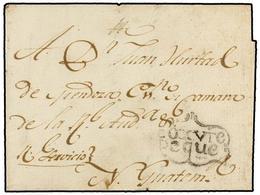 SALVADOR. 1800. COJUTEPEQUE A NUEVA GUATEMALA. Envuelta Fechada En El Interior, Marca COXVTE/PEQUE. - Sellos